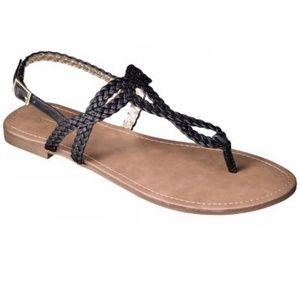 Merona Black Sandals